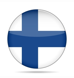 button with flag of Finland vector image vector image