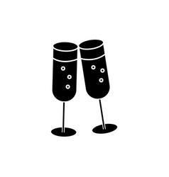 cheers wine glasses icon vector image vector image