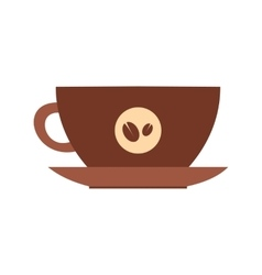 Cup of coffee icon flat style vector image vector image
