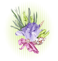 Floral Decor with Eustoma vector image vector image