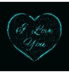 Heart of lights vector image
