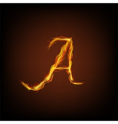 Letter of fire vector image
