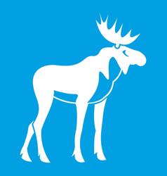 moose icon white vector image vector image
