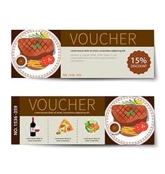 set of food voucher discount template design vector image vector image