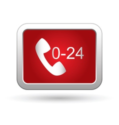 Support center call 24 hours icon vector image vector image