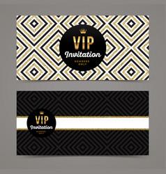 Template design for vip invitation vector