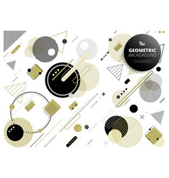 abstract geometric party of golden black grey vector image