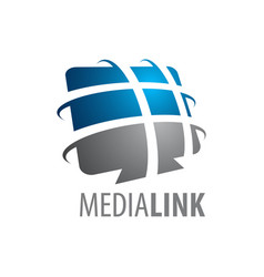 abstract media link logo concept design symbol vector image
