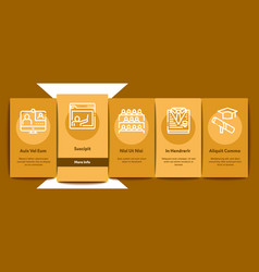 academy educational onboarding elements icons set vector image