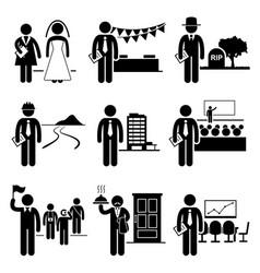 Administrative management services jobs vector