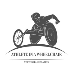 Athlete wheelchair icon vector