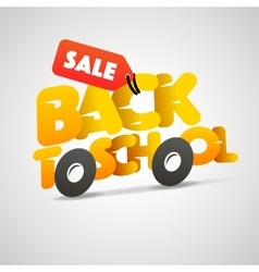 Back to school sale logo schoolbus vector