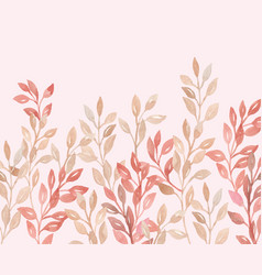 beige pink plant and leaf wedding decoration vector image