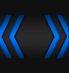 Black and blue overlap arrows abstract background vector