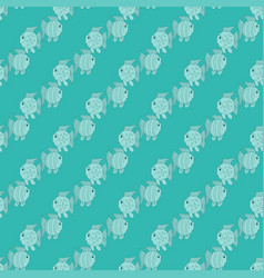 blue funny fish seamless pattern vector image