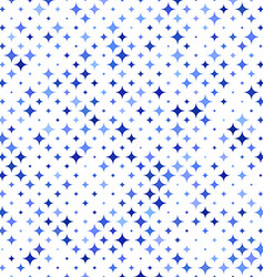 Blue star pattern background vector image