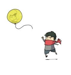 boy balloon vector image
