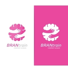 brain and hands logo combination Education vector image