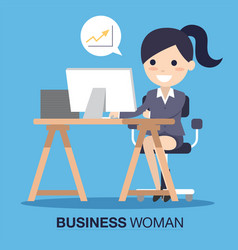 business woman success vector image