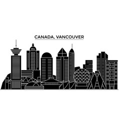 canada vancouver architecture city skyline vector image
