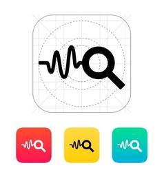 Cardiogram monitoring icon vector image vector image