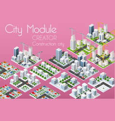 City module creator vector
