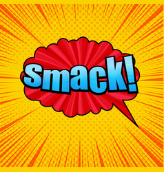 Comic smack wording template vector