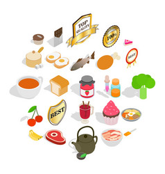 Commodity icons set isometric style vector