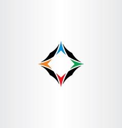 Compass arrows icon symbol logo vector
