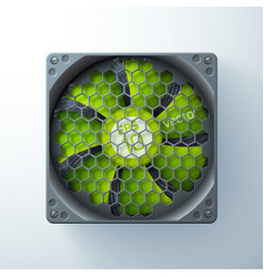 Computer cooler template vector