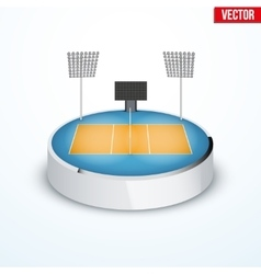 Concept of miniature round tabletop volleyball vector image