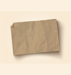 Craft brown paper texture vector
