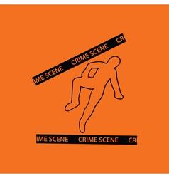 Crime scene icon vector image