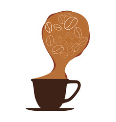 delicious coffee cup vector image
