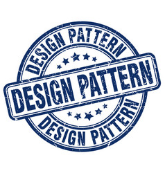 Design pattern blue grunge stamp vector