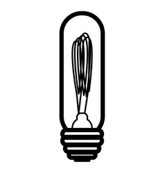 edison lamp in offline style vector image