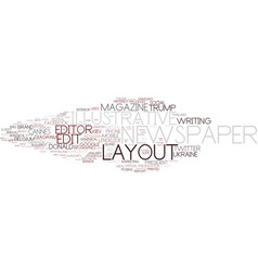 Editorial word cloud concept vector