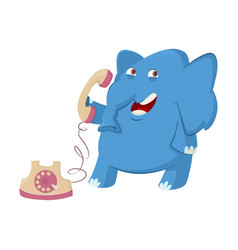 elephant and telephone vector image