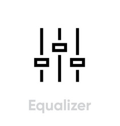 equalizer sound music icon editable line vector image