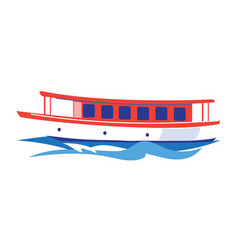 excursion ship on water vector image