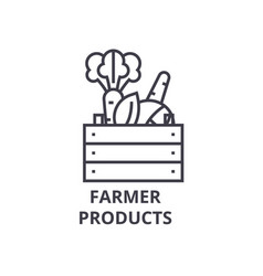 farmer products line icon outline sign linear vector image