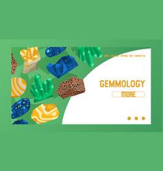 Gem web page crystalline stone precious vector
