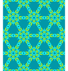 geometric abstract colorful mosaic green blue vector image