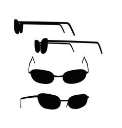 Glasses on white background vector
