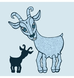 Goat 2015 Symbol of the new year vector image vector image