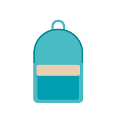 Green school backpack in flat style backpack with vector