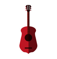 guitar flat shadow vector image vector image