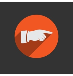 Hand finger icon Button for web vector image
