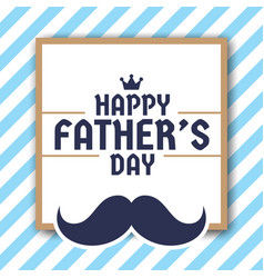 happy fathers day greeting card background vector image