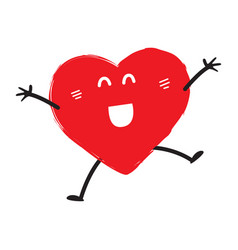 Happy heart emoji vector